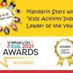 """Mandarin Stars awarded """"WINNER""""  In National Kids Awards 2021!"""